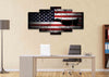 Image of American Flag with US Navy Airforce Jet Airplane Wall Art Canvas home office