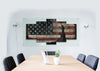 Image of Statue of Liberty with Rustic American Flag Multi Panel Canvas Wall Art Painting Decor