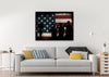 Image of Remembering the Sacrifices by the US Army Marines Military American Flag Wall Art Canvas