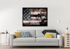 Image of Army Strong on Rustic American Flag Wall Art Canvas