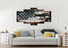 Image of Army Strong on Rustic American Flag Wall Art 5 piece Canvas
