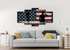 Image of God Bless America Patriotic Wall Art 5 piece living room Canvas