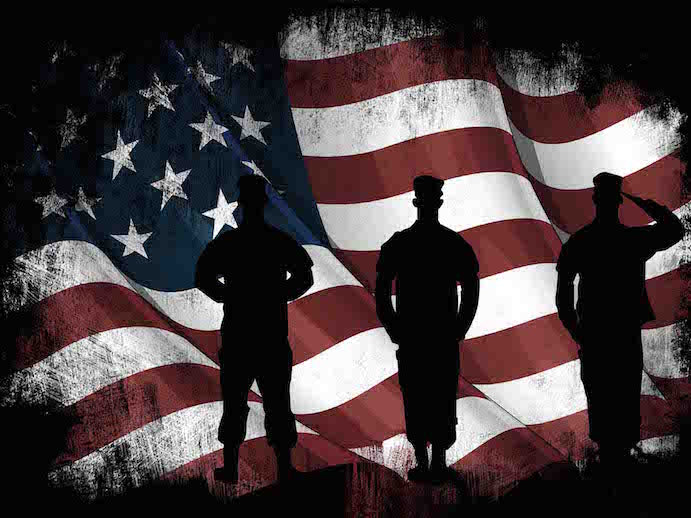 american flag and us army marines soldiers wall art canvas painting