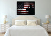 Image of Salute with American Flag 1 panel mock up wall art canvas1