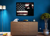 Image of Rustic American Flag Salute wall art canvas painting decor mancave