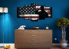 Image of Rustic American Flag Salute wall art canvas painting decor man cave