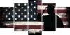 Image of Rustic American Flag Salute wall art canvas painting decor multi panel