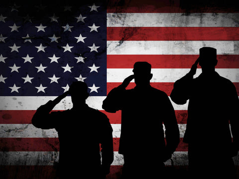 3 US Marines Saluting the American Flag Military Patriotic Army Wall Art