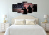 Image of 3 US Marines Saluting the American Flag Military Patriotic Army Wall Art