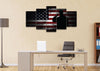 Image of US Marine Saluting the American Flag Military Wall Art Canvas Painting Decor
