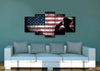 Image of US Army Military Officer Saluting the Patriotic American Flag Wall Art Canvas