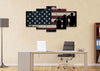 Image of Army Rangers Navy Seals Marines Salute Patriotic American Flag Wall Art Canvas Painting Decor