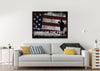 Image of Land of the Free Because of the Brave American Flag Wall Art Canvas