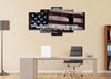 Image of Land of the Free Because of the Brave American Flag Wall Art office Canvas