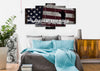 Image of Land of the Free Because of the Brave American Flag Wall Art 5 piece bedroom Canvas