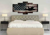 Image of US Airforce Fighter Jet Airplane with American Flag Canvas Wall Art Painting bedroom
