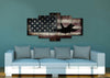 Image of US Airforce Fighter Jet Airplane with American Flag Canvas Wall Art Painting living room