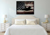 Image of US Airforce Fighter Jet Airplane with American Flag Canvas Wall Art Painting bed room