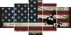 Image of Military Helicopter with American Flag Multi Panel Canvas Wall Art Painting Decor