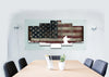 Image of Soldier in Kneeling Position with American Flag Multi Panel Canvas Wall Art Painting Decor