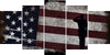 Image of Soldier Saluting the American Flag Multi Panel Canvas Wall Art Painting Decor