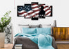 Image of Courage Strength Sacrifice American Flag Wall Art 5 panel bedroom Canvas