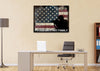 Image of Proud Military Family with American Flag Patriotic Wall Art Canvas