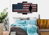 Image of Walking Soldier with Rustic American Flag Wall Art 5 set bedroom Canvas