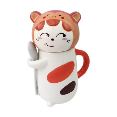 Cat Wearing Monkey Hat Mug
