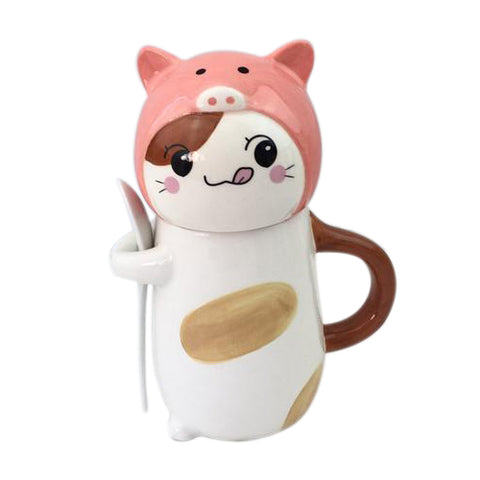 Cat Wearing Pig Hat Mug