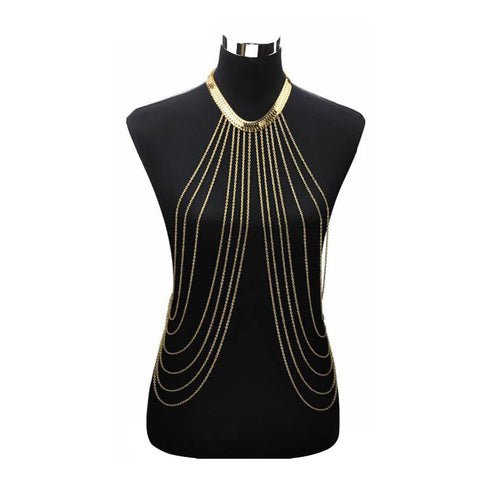 Gold Body Chain Necklace