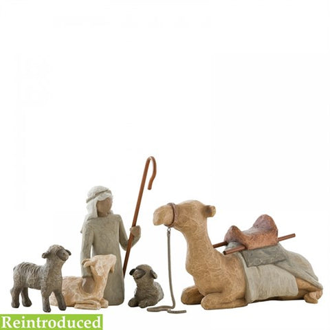 Shepherd and stable animals - Willow Tree