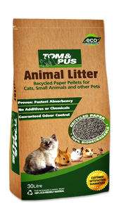 Tom & Pus Recycled Paper Cat Litter