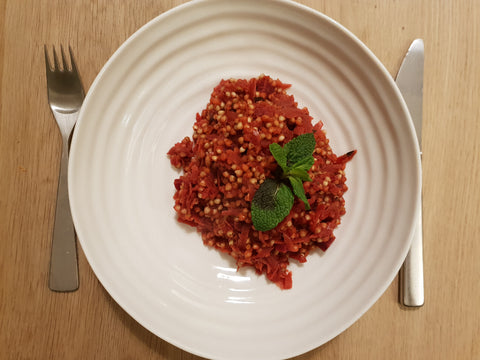 Longhaul Beetroot buckwheat risotto