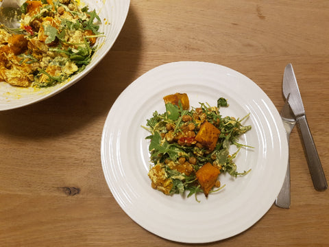 Longhaul Roast Pumpkin and chickpea salad
