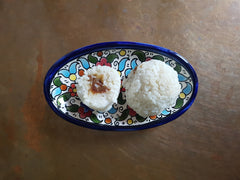 Coconut and date rice recovery balls