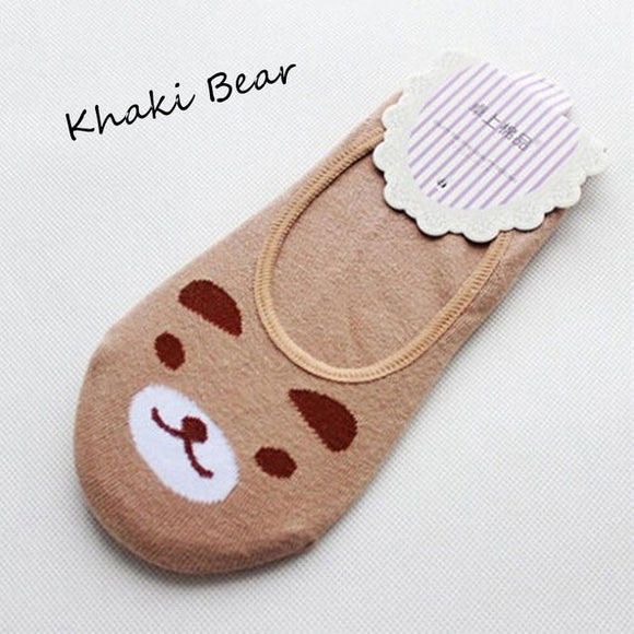 Footsie Bear Embroidered Socks