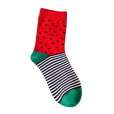 High Cut Watermelon Pattern Socks