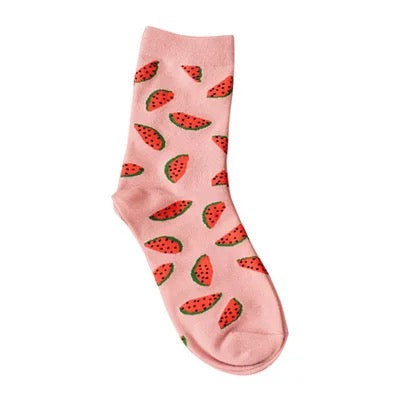 High Cut Watermelon Embroidered Socks