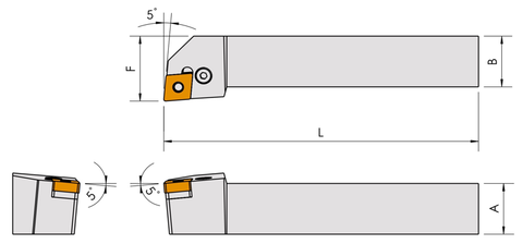 PCLNR/L 95° FOR CNMG INSERTS