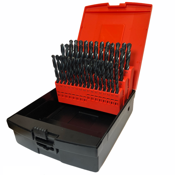 820801SET4 HSS Drill Set (6.0mm-10.0mm) x 0.1mm Increments (41pcs)
