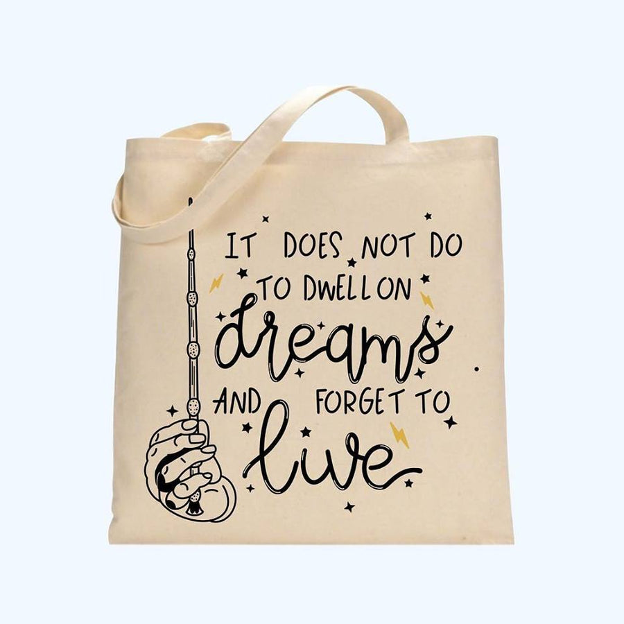 Dwell on Dreams tote bag
