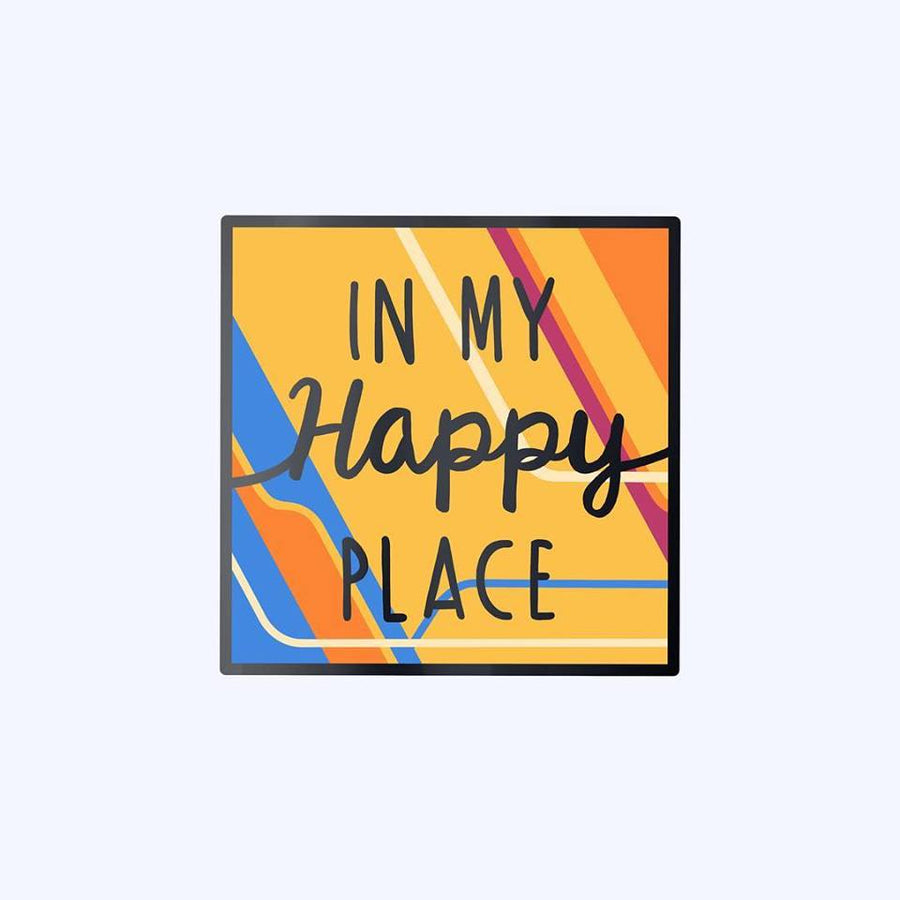 Beautiful Tomorrow Happy Place Enamel Pin