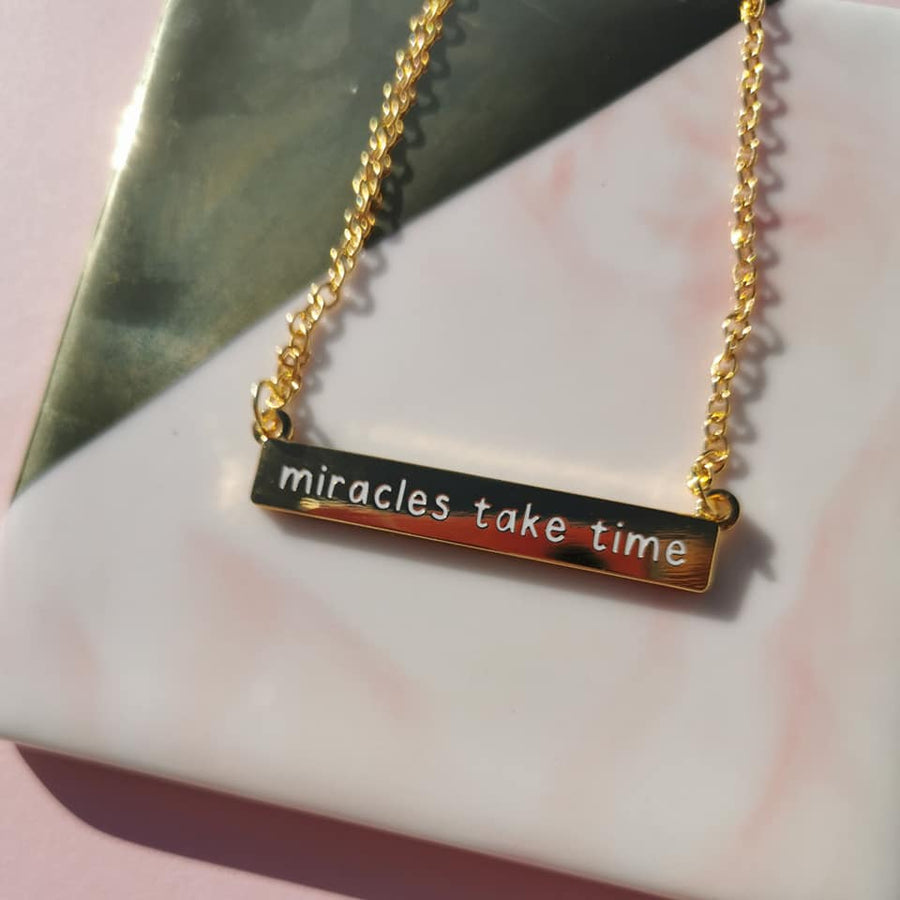 Miracles Take Time Necklace