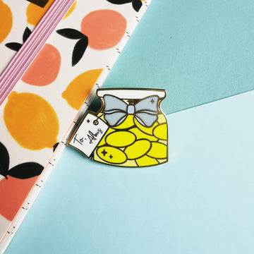 Sherbet lemon enamel pin