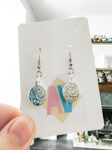 Mini Princess Charm Enamel Earrings