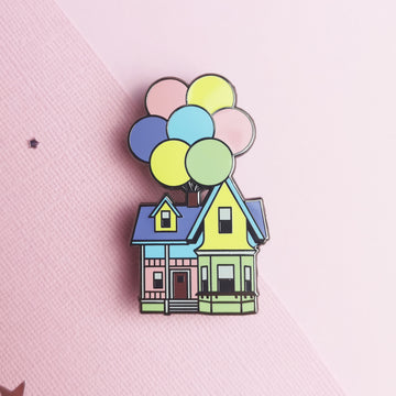 Balloon House Enamel Pin