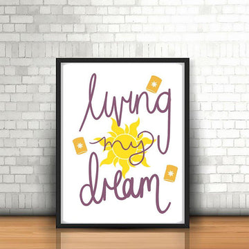Living My Dream Postcard Print