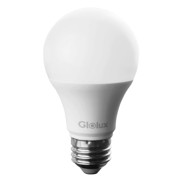 Glolux A19 LED Light Bulb, 60 Watt Equivalent, E26 Base Daylight 9 Watt Pack of 6