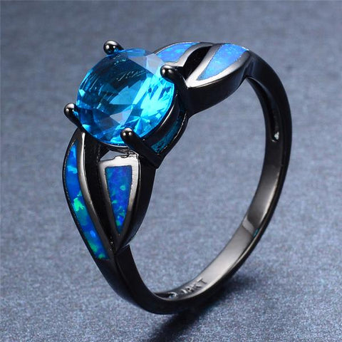Ocean Blue Aquamarine Ring